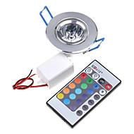 3W Stropní světla / Panel Zápustná 1 Integrovaná LED 200-250 lm R GB Dálkové ovládání AC 85-265 V