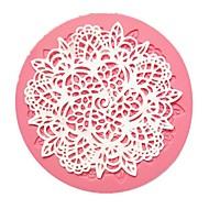 Small Round Flower Lace Fondant Cake Molds