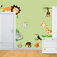 Eläimet Wall Tarrat Lentokone-seinätarrat Koriste-seinätarrat,Vinyyli materiaali Irroitettava Kodinsisustus Seinätarra