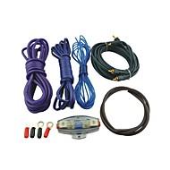 auto voiture l801 rca audio kit de câblage d'amplificateur avec porte-fusible