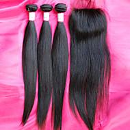 gorąca sprzedaż brazylijski 12-26inch virgin wiązki włosów z zamknięciem