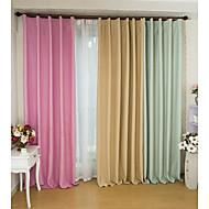 2 paneeli Window Hoito Modernit Living Room Polyesteri materiaali Pimennysvuoritus Drapes Kodinsisustus For Ikkuna