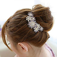 etelä-korea korkealaatuisesta koristeet kammat hiukset lukko timantti helmi kierre violetti kukka
