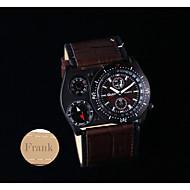 Персональный подарок Часы , Термометр Кварцевый Часы With 304 Нержавеющая сталь Материал корпуса Натуральная кожа Группа