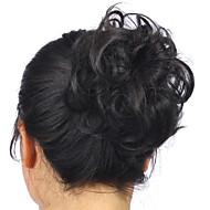 mulheres elegante cauda de pônei quentes clipe em no bolo cabelo peruca de cabelo sintético extensão scrunchie
