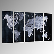 VISUAL STAR®Abstract World Map Wall Picture Printing on Canvas Modern Wall Decor Canvas Art Ready to Hang