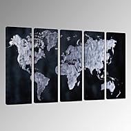 Abstraktní Krajina Fantazie Volný čas Fotografie Vlastenec Moderní Romantické Mapy Pop Art Cestování Pět panelů Vertikální Wall Decor For