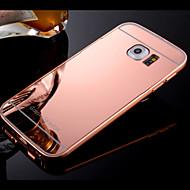 Para Samsung Galaxy Capinhas Case Tampa Galvanizado Espelho Capa Traseira Capinha Cor Única Rígida PC para SamsungS8 S8 Plus S7 edge S7