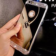 Kompatibilitás iPhone 8 iPhone 8 Plus iPhone 7 iPhone 7 Plus iPhone 6 iPhone 6 Plus tokok Strassz Galvanizálás Tükör Hátlap Case Tömör