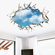 Muodot 3D Wall Tarrat 3D-seinätarrat Koriste-seinätarrat,Vinyyli materiaali Irroitettava Kodinsisustus Seinätarra