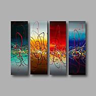 Hånd-malede AbstraktModerne Fire Paneler Kanvas Hang-Painted Oliemaleri For Hjem Dekoration