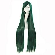 Γυναικείο Συνθετικές Περούκες Χωρίς κάλυμμα Μακρύ Ίσια Πράσινο Απόκριες Περούκα Καρναβάλι περούκα φορεσιά περούκες