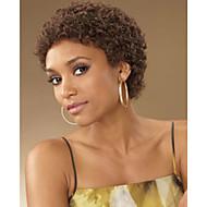 Γυναικείο Συνθετικές Περούκες Χωρίς κάλυμμα Κοντό Kinky Curly Καφέ Περούκα αφροαμερικανικό στυλ Για μαύρες γυναίκες Φυσική περούκα