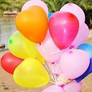 10kpl sydämen muotoinen ilmapallo häät ilmapallo valokuvien tulostamiseen naimisiin muoti ilmapallo rakkautta ilmapallo (ramdon väri)