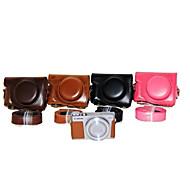 dengpin® pu תיק תיק עור המצלמה לכסות עם רצועת כתף עבור x Canon PowerShot G9 (צבעים שונים)