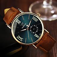 YAZOLE Pánské Náramkové hodinky Křemenný Kůže Kapela Běžné nošení Hnědá Bílá Černá Modrá Tmavě zelená