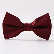 Wine Red Paisley Formal Twill Bow Tie