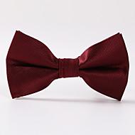 עניבת פרפר - פסים (בורדו , פוליאסטר)