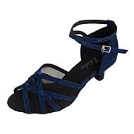 Sapatos de Dança(Azul) -Feminino-Personalizável-Latina / Salsa