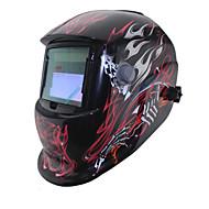 ferramentas preto soldagem crânio fogo solar auto escurecimento li bateria tig mma mig máscara de solda / Capacetes / óculos /