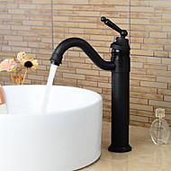 Antiikki Integroitu Pyörivä with  Keraaminen venttiili Yksi kahva yksi reikä for  Oil-rubbed Bronze , Kylpyhuone Sink hana
