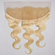 10-20 tuumaa blondi pitsi edessä / käsin sidottu runko aalto ihmisen hiukset sulkeminen vaalea ruskea swiss pitsi 50g-80g grammaa