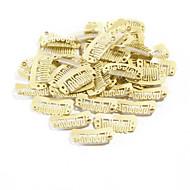 neitsi® 80pcs u-alakú beépülő klipek fém klipsz hajhosszabbítás diy clip-on (32.8cm, fekete, barna, sárga)