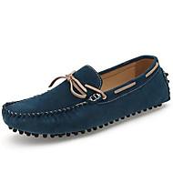 남성 보트 신발 모카신 내파 가죽 봄 여름 가을 캐쥬얼 드레스 모카신 다크 블루 어두운 무늬 2.5cm- 4.5cm