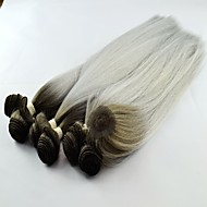 venda quente onda yaki sintética T1b / cabelo prateado tece extensão do cabelo