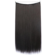 Wig Black 55CM Synthetic High Temperature Wire Straight Hair Piece Color 99J