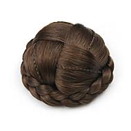 excêntricas Enrolado Castanho europa cabelo humano pequena capless chignons perucas 2/30