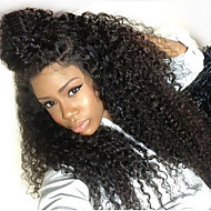 Cheap Women Synthetic Lace Front Wigs 150% Density Kinky Curly Natural Black Color Hair Upto Wig High Quality