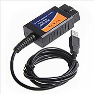 linhas de culpa auto instrumento diagnóstico ELM327 OBD2 condução cabo USB do computador