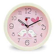 (色ランダム)8インチの子供の寝室かわいい漫画の壁時計ミュート円形クロッククォーツ時計
