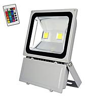 RGB 100W עם שלט רחוק נורה LED להציף מנורת מסחר זרקורי אבטחת נוף בחוץ אור (ac85-265v)
