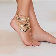 女性用 アンクレット/ブレスレット ゴールドメッキ 合金 ユニーク 欧風 ファッション ステートメントジュエリー 多層式 ビンテージ セクシー コスチュームジュエリー ジュエリー ジュエリー 用途 パーティー 日常 ビーチ