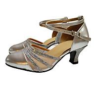 Dansesko(Sort Sølv Guld) -Kan ikke tilpasses-Cubanske hæle-Damer-Moderne Ballet