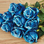 1 Une succursale Plastique Roses Fleur de Table Fleurs artificielles 51(20'')