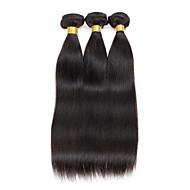 Pacotes de cabelo reto peruano não processados 8-26 3pcs 150g cabelo humano tece # 1b natural preto saudável e limpo