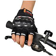 luvas de competência da motocicleta equitação dedo semi cross country verão luvas de motociclista dedo semi