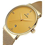 WWOOR Pánské Hodinky k šatům Módní hodinky Náramkové hodinky Křemenný Japonské Quartz Kalendář Voděodolné Svítící imitace Diamond Nerez