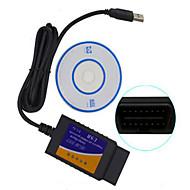 ELM327 vendas instrumento de teste de diagnóstico de carro em massa USB OBD de alta qualidade
