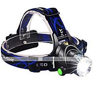LED-Zaklampen Hoofdlampen LED 3000 Lumens 3 Modus Cree XM-L2 2 x 18650 batterijen Verstelbare focus Schokbestendig Oplaadbaar