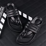 Αντρικό Παντόφλες & flip-flops Καλοκαίρι PU Causal Αγκράφα Επίπεδο Τακούνι Μαύρο Επίπεδο