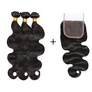 4 Peças Onda de Corpo Tramas de cabelo humano Cabelo Brasileiro 100g per bundle 8inch-28inch Extensões de cabelo humano