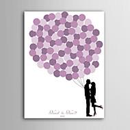 e-kotiin henkilökohtaisen allekirjoituksen canvas näkymätön runko print - vaaleanpunainen ilmapallo couple