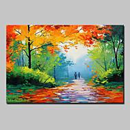 Pintados à mão Paisagem Paisagens Abstratas Horizontal,Moderno 1 Painel Tela Pintura a Óleo For Decoração para casa