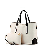 Women Bags All Seasons Patent Leather Bag Set with for Formal Outdoor Blue Blushing Pink Wine Light Blue Lilac