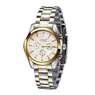 WINNER Férfi Karóra mechanikus Watch Automatikus önfelhúzós Naptár Vízálló Rozsdamentes acél Zenekar Luxus Ezüst Fehér Fekete