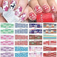 12pcs Nail Art tarra Veden siirto Decals meikki Kosmeettiset Nail Art Design